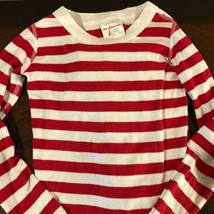 Hanna Andersson Red and White Stripped PJs